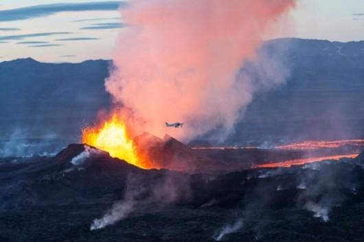 Islandia - Erupacja wulkanu