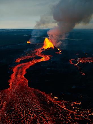 Islandia - Trwa jedna z największych erupcji szczelinowych w Holuhraun 2