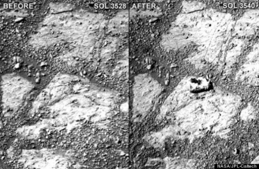 Mars - Nagle pojawił się pączek