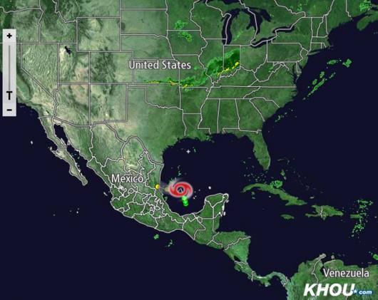 Meksyk - Tropikalny sztorm Dolly 4