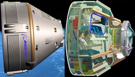 Rakieta CST-100 zaprojektowna przez firmę Boeing