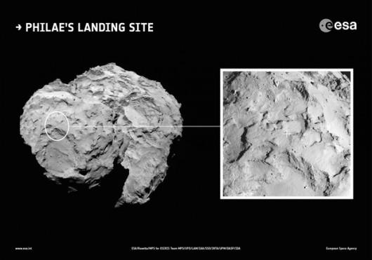 Planowane miejsce lądowania probnika Philae /ESA/Rosetta/MPS for OSIRIS Team MPS/UPD/LAM/IAA/SSO/INTA/UPM/DASP/IDA /