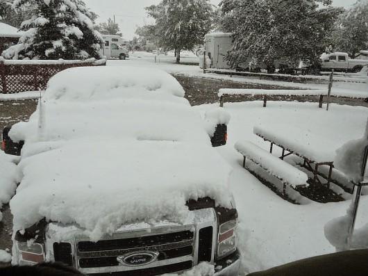 USA - Bardzo wczesna zima w Wyoming, Dakocie i Kolorado 2