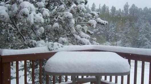 USA - Bardzo wczesna zima w Wyoming, Dakocie i Kolorado 3