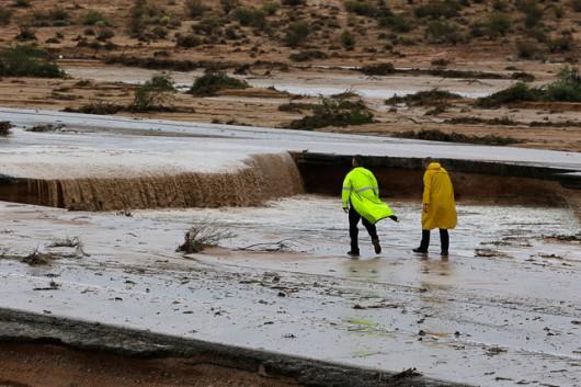 USA - Przez cyklon Norbert okolice Las Vegas znalazły się pod wodą 1