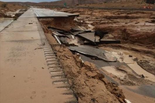 USA - Przez cyklon Norbert okolice Las Vegas znalazły się pod wodą 8