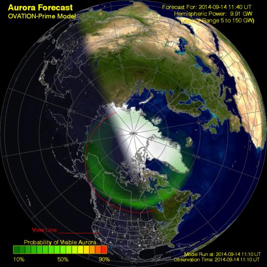USA - Zorza polarna widoczna była w Parku Narodowym Acadia 2