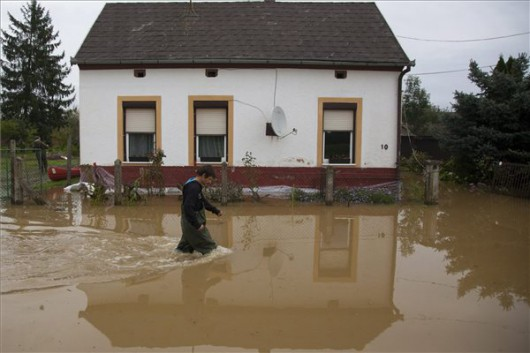 Węgry - Pod woda zachodnia część kraju 1