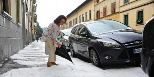 Włochy - Bomba woda we Florencji 4