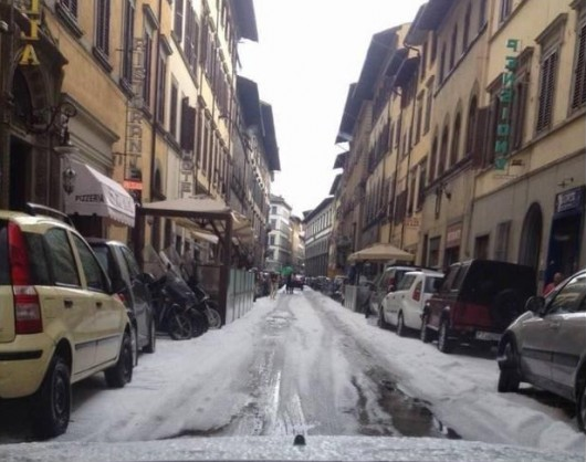 Włochy - Bomba woda we Florencji 5