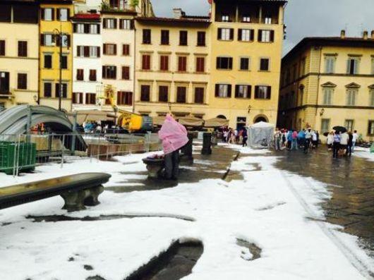 Włochy - Bomba woda we Florencji 7