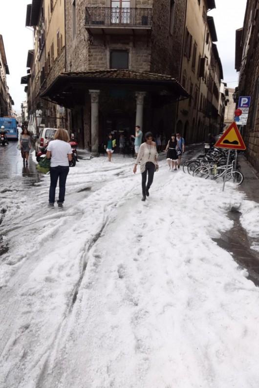 Włochy - Bomba woda we Florencji 8