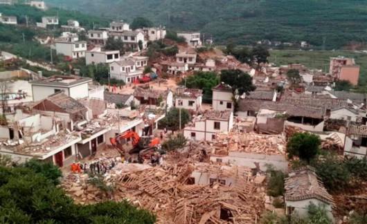 Chiny - Trzęsienie ziemi o sile 6.0 w skali Richtera 2