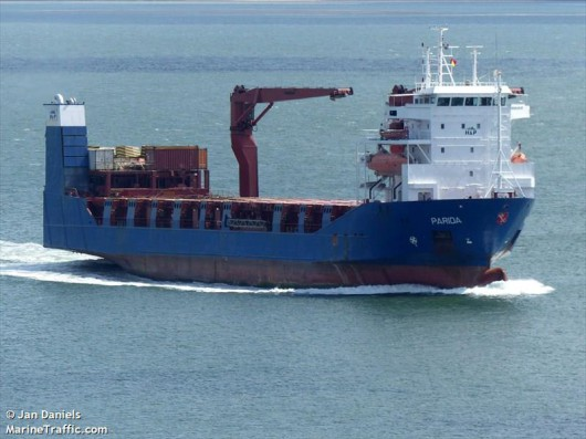Duński statek Parida