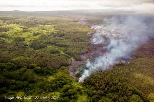 Hawaje, USA - Lawa, która wydobywa się z wulkanu Kilauea znacznie przyspieszyła