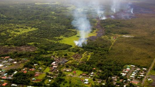 Hawaje, USA - Lawa zaczyna niszczyć domy 5