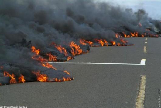 Hawaje, USA - Lawa zaczyna niszczyć domy 6