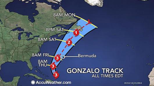 Huragan Gonzalo kieruje się na Bermudy 2