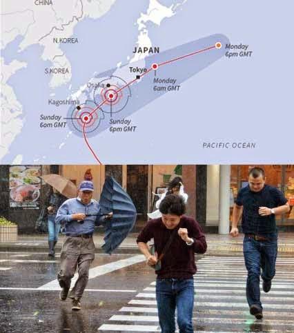 Japonia - Przez potężny tajfun Phanfone na Tokio spadło 300 lmkw 3