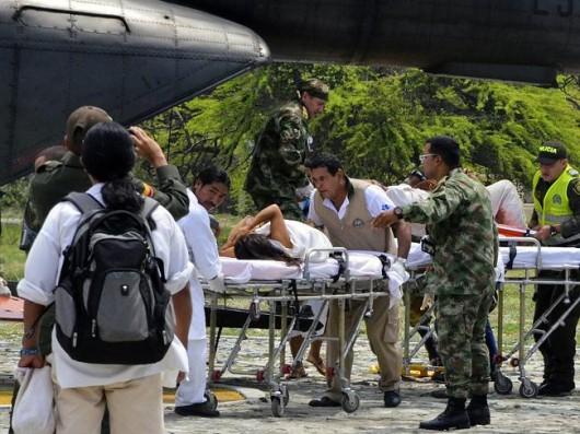 Kolumbia - Piorun uderzył w małą wioskę podczas odprawiania rytualnych obrządków 1