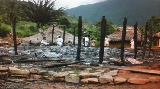 Kolumbia - Piorun uderzył w małą wioskę podczas odprawiania rytualnych obrządków 3