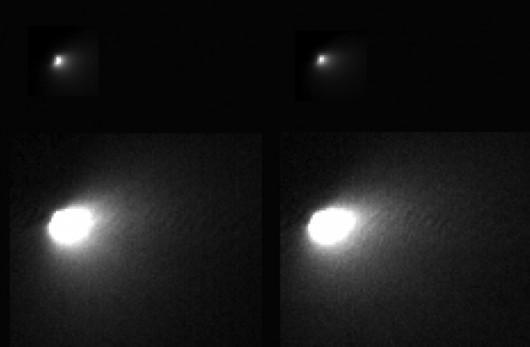 Kometa C/2013 A1 Siding Spring w czasie przelotu obok Marsa. Zdjęcia pokazują tylko kometę /NASA/JPL-Caltech/University of Arizona /