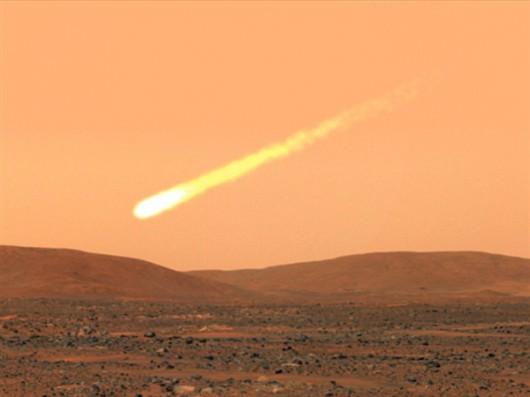 Kometa, Mars