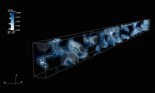 Kształtowany przez oddziaływanie fal elektromagnetycznych wodór (jako gaz) unoszący się w kosmosie