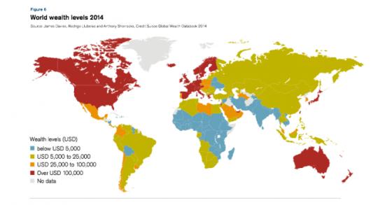 Mapa światowego bogactwa
