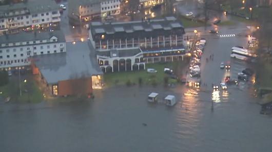 Norwegia - Ogromna powódź na zachodzie kraju z powodu ulewnych deszczy 2
