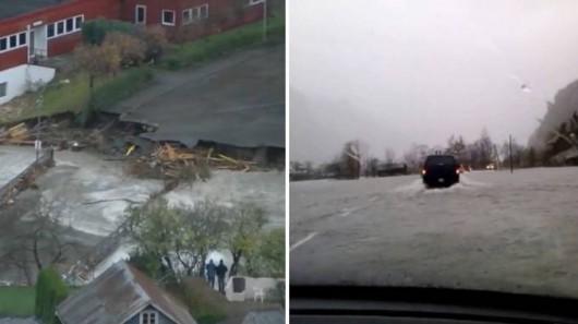 Norwegia - Ogromna powódź na zachodzie kraju z powodu ulewnych deszczy 6