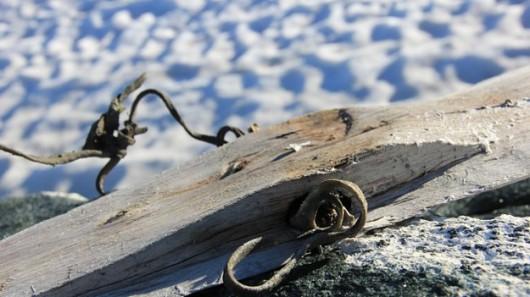 Znaleziono narty z wiązaniami, które mają 1300 lat, foto. Oppland fylkeskommune