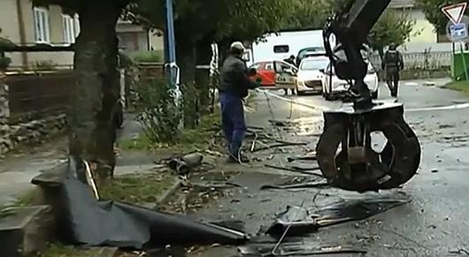 Słowacja - Potężna burza przeszłą przez zachodnią część kraju