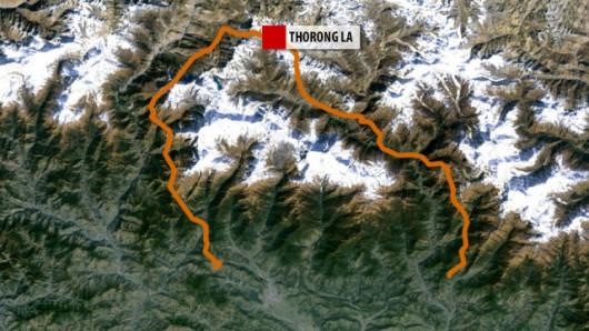 Szlak trekkingowy wokół Annapurny. Do tragedii doszło w rejonie przełęczy Thorong La