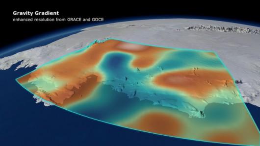 Zróżnicowanie pola grawitacyjnego na zachodniej Antarktydzie 2