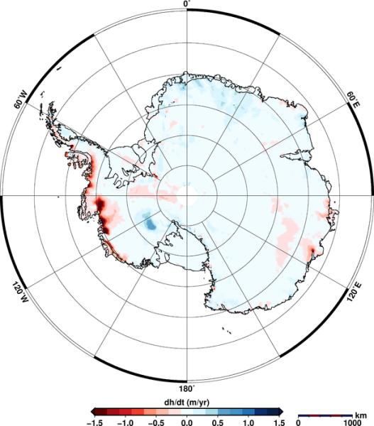Zróżnicowanie pola grawitacyjnego na zachodniej Antarktydzie