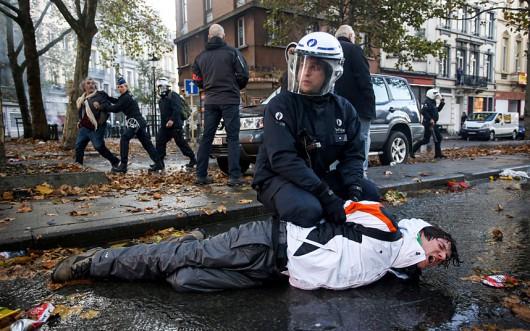 Belgia - Masowe demonstracje z powodu planów zwiększenia wieku emerytalnego z 65 do 67 lat 2