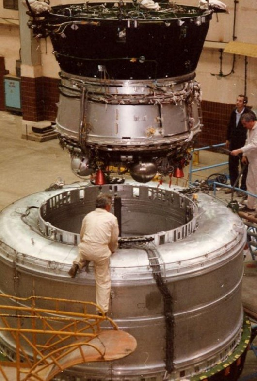Briz-M, bardzo podobny do Briz-KM, który najwyraźniej jest celem dla małego satelity. To trzeci stopień wielu rosyjskich rakiet, którego zadaniem jest umieścić ładunek na odpowiedniej orbicie