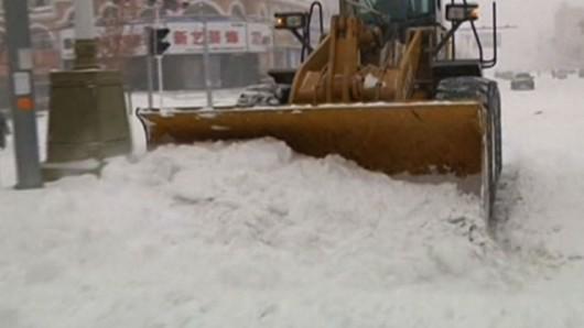 Chiny - Śnieżyce i paraliż komunikacyjny na północnym wschodzie kraju 3