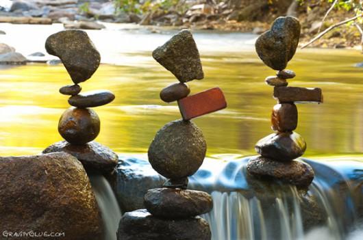 Ciekawa technika układania kamieni bez spoiwa 2