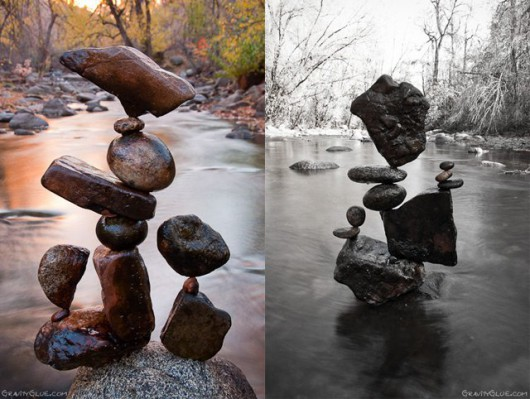 Ciekawa technika układania kamieni bez spoiwa 8