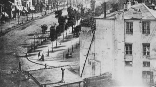 Francja - Prawdopodobnie najstarsze zdjęcie przedstawiające człowieka, Paryż w roku 1838