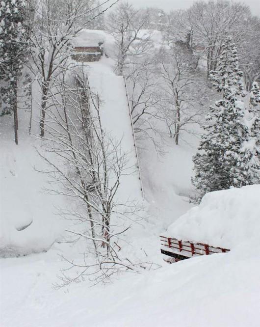Genhe, Mongolia - śnieżyca