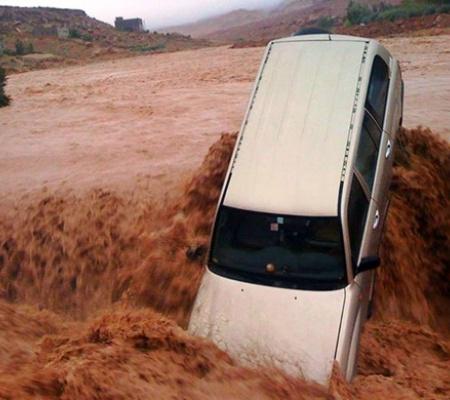 Maroko - Wyschnięte koryta rzek napełniły się wodą 2