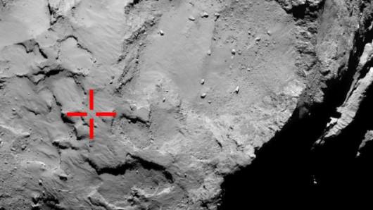 Miejsce pierwszego kontaktu lądownika z kometą
