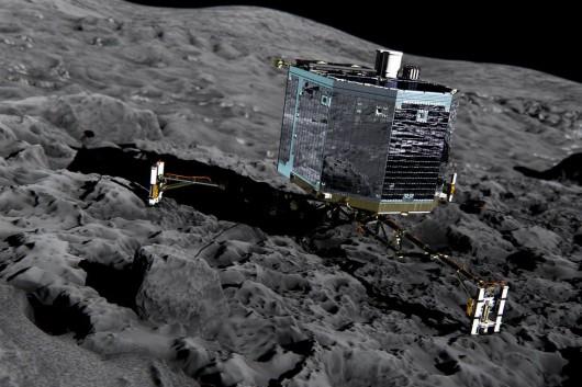 Philae na powierzchni komety