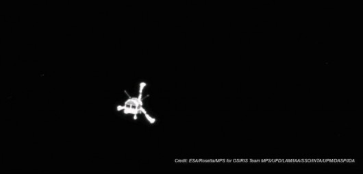 Philae w obiektywie kamery OSIRIS /ESA/Rosetta/MPS for OSIRIS Team MPS/UPD/LAM/IAA/SSO/INTA/UPM/DASP/IDA /