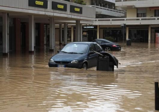 Włochy - Ulewny deszcz 3