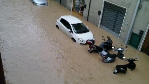 Włochy - Ulewny deszcz 4