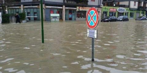Włochy - Ulewny deszcz 5
